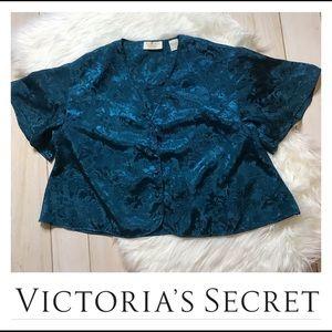 Victoria's Secret Turquoise Blue Pajama Top